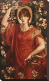 A Vision of Fiammetta, 1878 Stretched Canvas Print by Dante Gabriel Rossetti