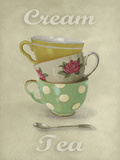 Vintage Tea II Giclee Print by Janie Secker