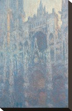The Portal of Rouen Cathedral in Morning Light, 1894 Stretched Canvas Print by Claude Monet