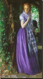 April Love, ca. 1855 Stretched Canvas Print by Arthur Hughes
