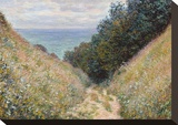 Road at La Cavée, Pourville, 1882 Stretched Canvas Print by Claude Monet