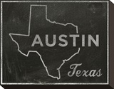 Austin, Texas Stretched Canvas Print by John W. Golden