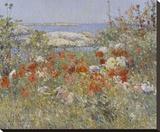 Celia Thaxter's Garden, Isles of Shoals, Maine, 1890 Reproduction transférée sur toile par Childe Hassam