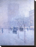 Late Afternoon, New York, Winter, 1900 Stretched Canvas Print by Childe Hassam
