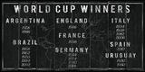 World Cup Winners Reproduction procédé giclée par  The Vintage Collection