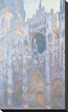 Rouen Cathedral, West Façade, 1894 Stretched Canvas Print by Claude Monet