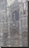The Cathedral in Rouen, The Portal, Grey Weather, 1892 Stretched Canvas Print by Claude Monet