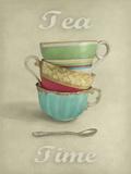 Vintage Tea I Giclée-Druck von Janie Secker