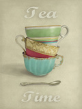 Vintage Tea I Giclee Print by Janie Secker