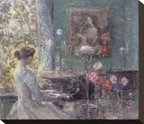 Improvisation, 1899 Stretched Canvas Print by Childe Hassam