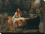 The Lady of Shalott, 1888 Stretched Canvas Print by John William Waterhouse