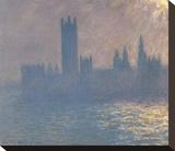 Houses of Parliament, Sunlight Effect (Le Parlement, effet de soleil), 1903 Stretched Canvas Print by Claude Monet