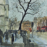 Winter Morning - Whitehall, London Giclee Print by Susan Brown