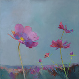 Poppies in Bloom I Giclee Print by Sarah Simpson