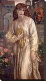 Salutation of Beatrice, 1880-82 Stretched Canvas Print by Dante Gabriel Rossetti