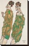 Devotion Stretched Canvas Print by Egon Schiele