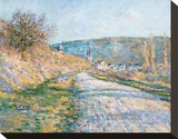 The Road to Vétheuil, 1879 Stretched Canvas Print by Claude Monet