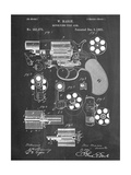 Revolver Firearm Patent Posters