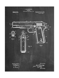 Colt 45 Patent 1911, Firearm Patent Giclee Print