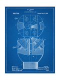 Howard Hughes Drill, Oil Drill Patent Poster