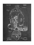 Football Leather Helmet Patent Kunstdrucke