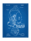 Football Leather Helmet Patent Poster