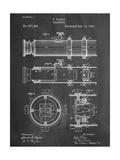 Telescope Vintage Patent 1891 Lámina giclée