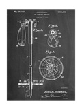 Ski Pole Patent Giclee Print
