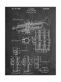 Trumpet Instrument Patent Giclee Print