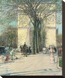 Washington Arch, Spring, 1890 Stretched Canvas Print by Childe Hassam
