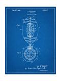 Football Patent 1923 Giclee-trykk