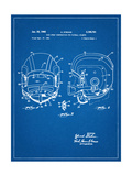 Football Helmet With Chinstrap Patent Giclee Print