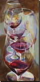Winetasting Stretched Canvas Print by Amy Dixon