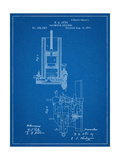 Combustion Engine Patent 1877 Print
