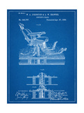 Dentists Chair Patent 1886 Reproduction procédé giclée