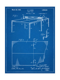 Ping Pong Table Patent Prints