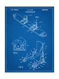 Snowboard Patent Posters