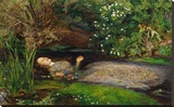 Ophelia, ca. 1851 Stretched Canvas Print by John Everett Millais