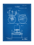 Antique Automobile Patent 1895 Pósters