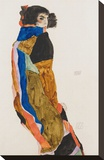 Moa Stretched Canvas Print by Egon Schiele