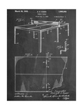 Ping Pong Table Patent Posters