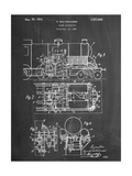 Steam Locomotive Patent Pósters