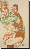 Lovemaking Stretched Canvas Print by Egon Schiele