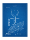 Boat And Oar Patent Prints