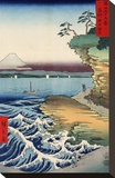 Otsuki Plain in Kai Province, from the series Thirty-six Views of Mount Fuji, 1858 Stretched Canvas Print by Ando Hiroshige