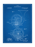 French Horn Instrument Patent Prints