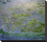 Nymphéas (Waterlilies), c. 1914-17 Stretched Canvas Print by Claude Monet