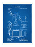 Barber's Chair Patent Giclee Print