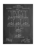 Brewing Beer Patent Giclee Print