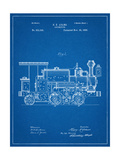 Train Locomotive Patent Giclee Print